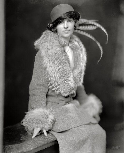 "Washington, D.C., circa 1920. ""Mrs. Theodore Roosevelt Jr."" Née Eleanor Butler (""Bunny"") Alexander. Harris & Ewing Collection"