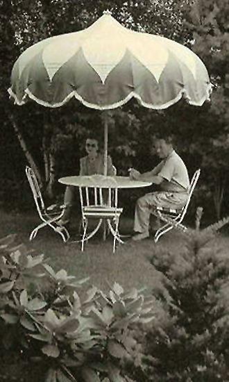 Vintage patio umbrella