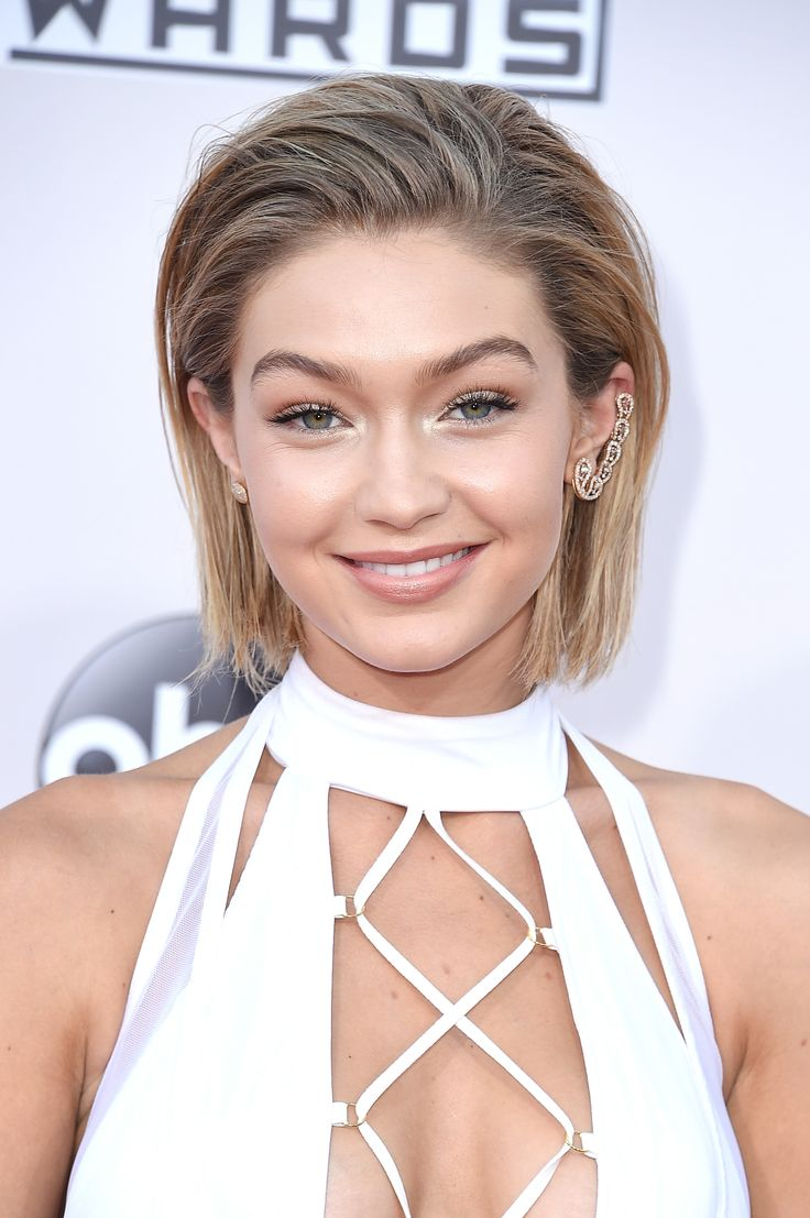 Gigi Hadid's stunning new bob by hair stylist Bryce Scarlett, styled with Matrix Style Link products.