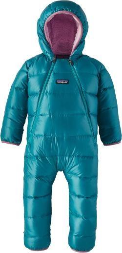 a8c4e42cd Patagonia Boy's Hi-Loft Down Sweater Bunting - Infants' Elwha Blue 18 Mo