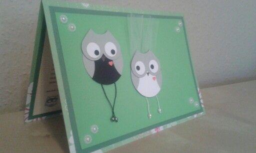 Owl wedding card by Lupettina