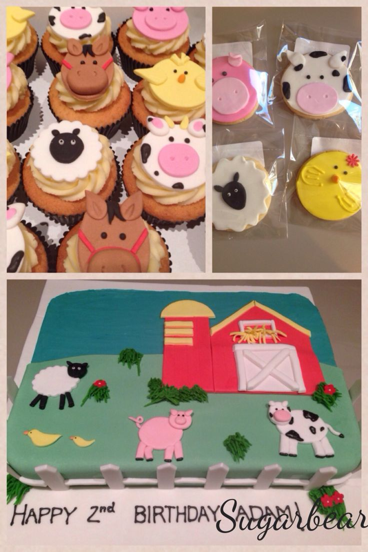 Another beautiful farmyard cake. Very popular for kids birthdays