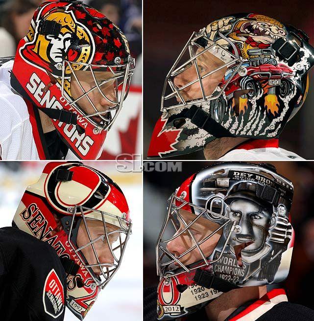 NHL Goalie Masks By Team   ... Ottawa Senators - NHL Goalie Masks by Team (2011-12) - Photos - SI.com