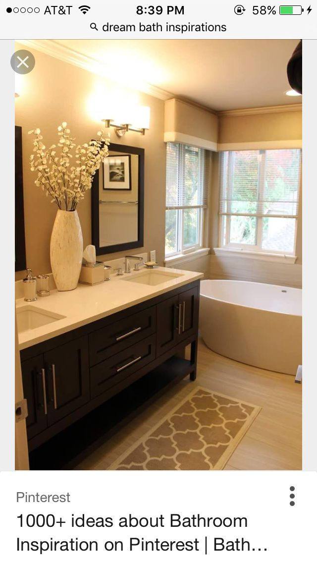 Warm toned with furniture style vanity Visit Devine