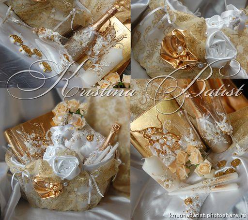 СВАДЕБНЫЕ КОРЗИНЫ. 250гривен, 1100рублей Свадебная корзина в золоте (Свадьбы)