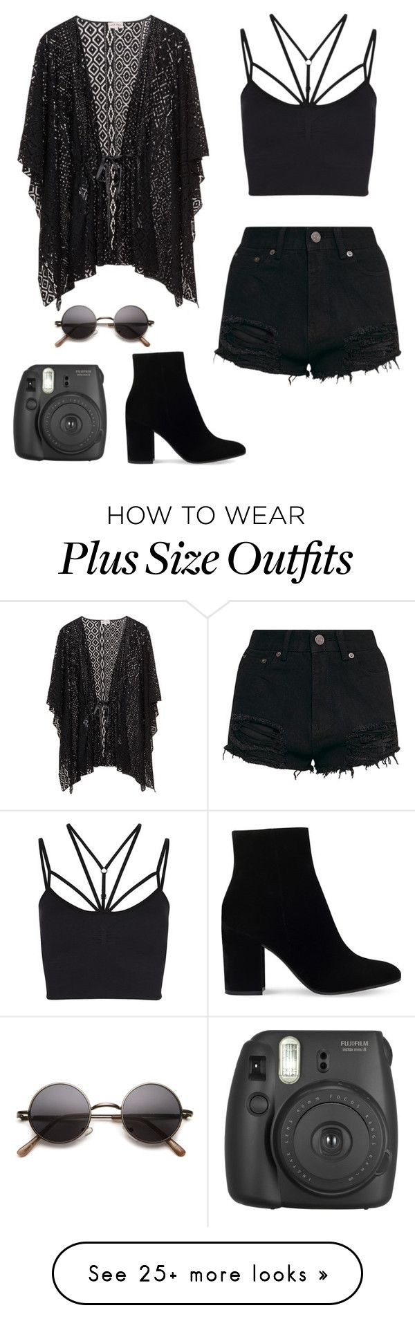 """""""Coachella Black (late)"""" by alwaysbegoth on Polyvore featuring Sweaty Betty, Gianvito Rossi and Fujifilm"""