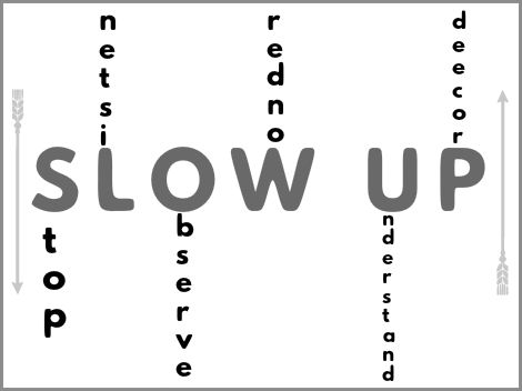 Coaching Model: SLOW UP  A Coaching Model Created by Chris Walters (Personal Development Coach, USA)