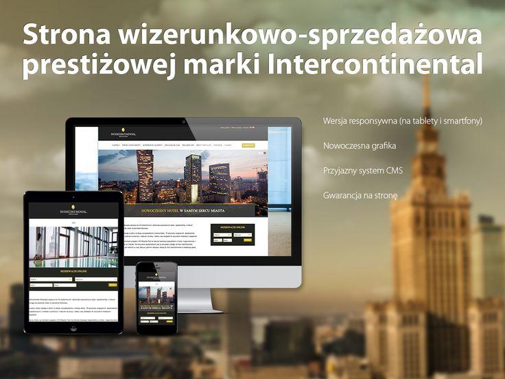Strona wizerunkowo-sprzedażowa prestiżowej marki InterContinental.