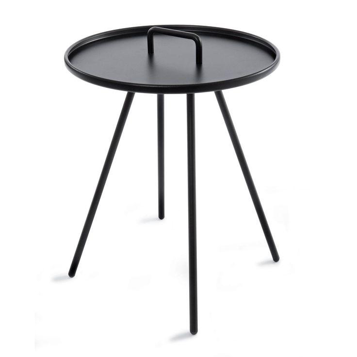 Round Metal Table - Black   Kmart