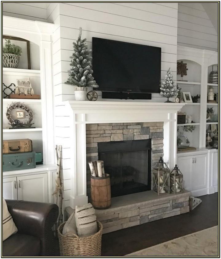 28++ Farmhouse mantel decor with tv ideas