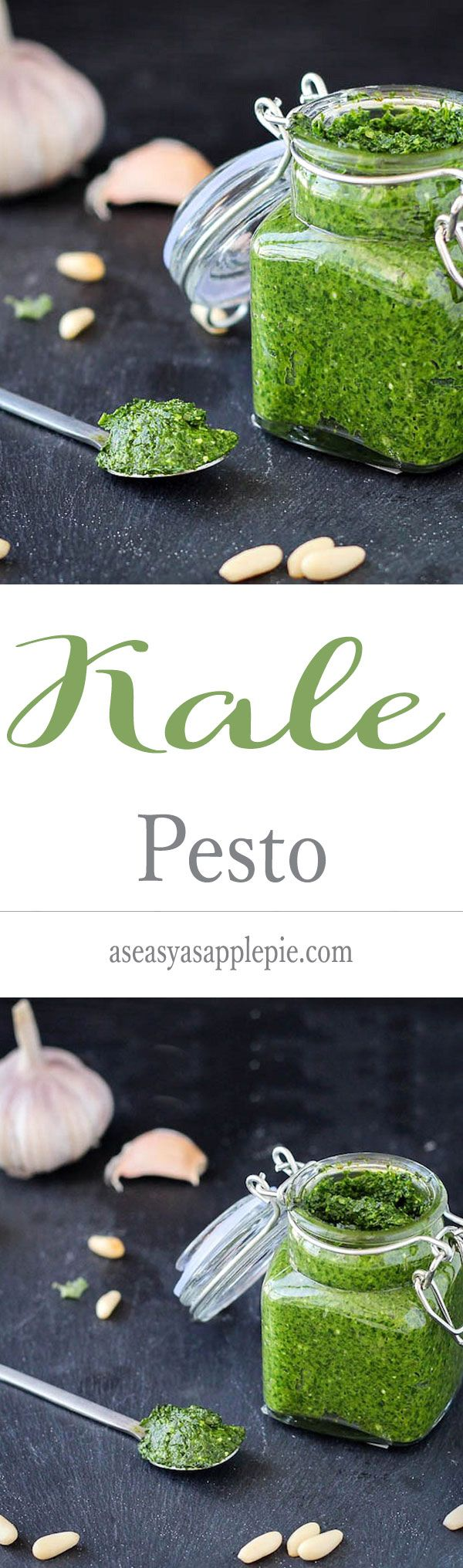 Kale Pesto ~ A variation of the classic basil pesto, featuring superstar kale! ~ from As Easy As Apple Pie