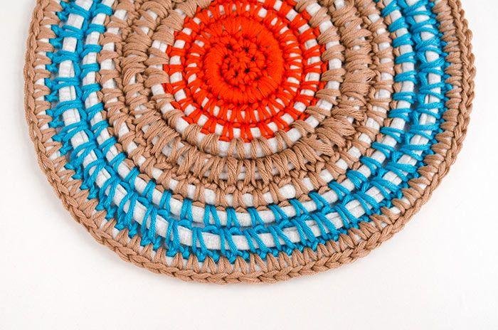 Fabric yarn carpet    #crochet #weareknitters