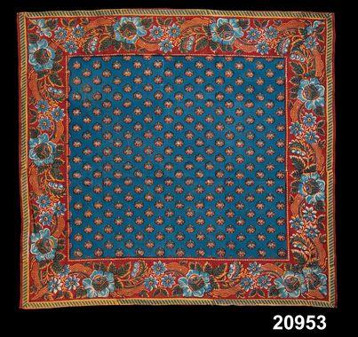 foulard de 1800-1849 imprimé en suède !