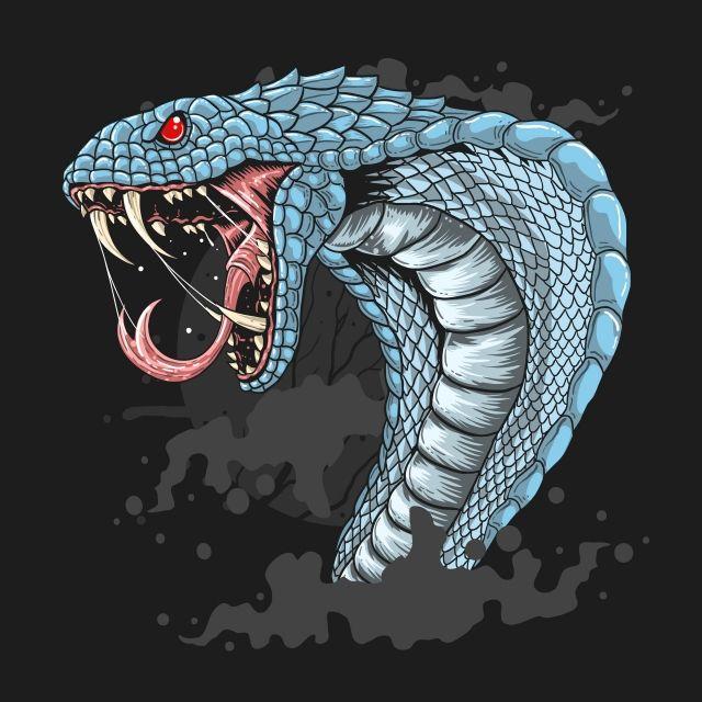 King Cobra Head Detail Eps Vector Cobra Art Snake Illustration Snake Art