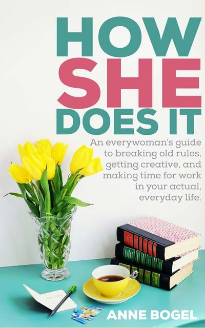 How She Does It: an everywoman's guide to breaking old rules, getting creative, and making time for work in your actual, everyday life. If you are a blogger, crafter, shop owner, banker, photographer, accountant, nurse, writer, whatever AND a mom, this book is for you. Great, practical guide on work/life balance.