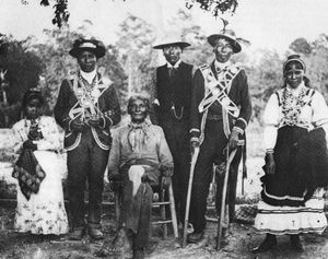 Mound Builders Indians of Mississippi | Mississippi Choctaws in traditional clothing, ca. 1908