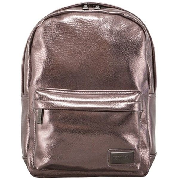 Pantone Metallic Backpack ($58) ❤ liked on Polyvore featuring bags, backpacks, backpack laptop bags, lipsy bags, laptop backpack, metallic backpacks and laptop bags