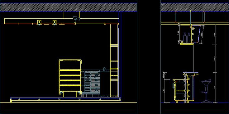 Construction Details Bar Dwgautocad Drawing In 2019