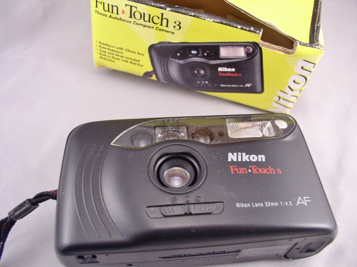 Vintage NIKON Fun Touch 3 35mm auto-focus Camera in original Box - Vintage Camera by SMNantiques on Etsy