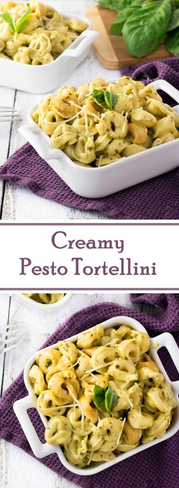 Creamy Pesto Tortellini Recipe