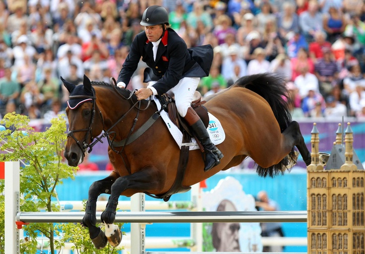 Day twelve: Nick Skelton of Team GB riding Big Star competes in the Individual Jumping Equestrian.