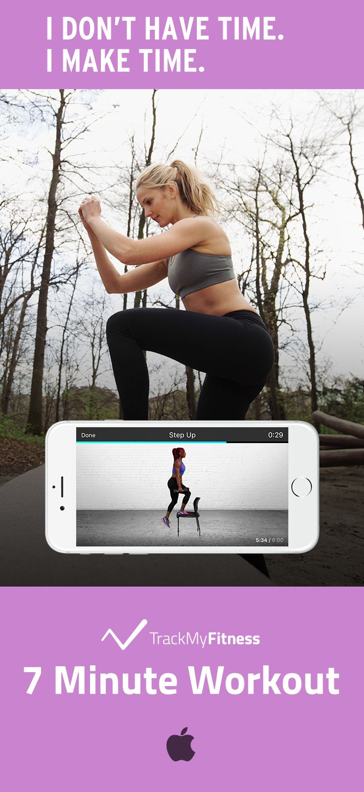 Stop spending your valuable time searching for workouts… Reach your fitness goals faster using 7 Minute Workout's progress and calories burned tracking. Keep it fresh with new exercise routines and wo