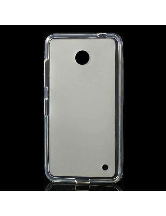 Θήκη Σιλικόνης TPU Ματ για  Nokia Lumia 630 / 630 Dual SIM RM-978 - Διάφανο