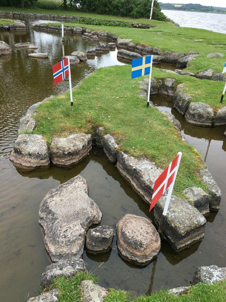 Danmarks kortet in DK