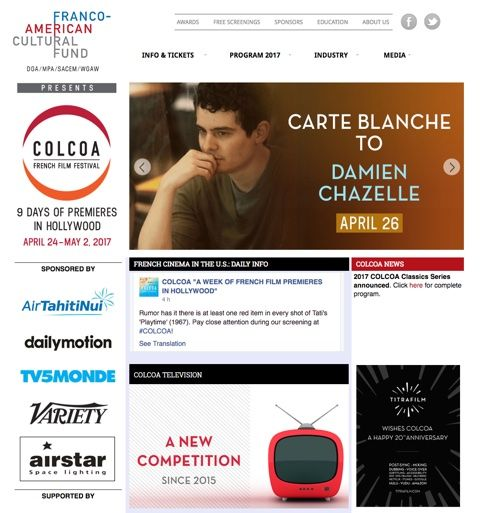 Colcoa French Film Festival, du 24 avril au 2 mai 2017 à Los Angeles