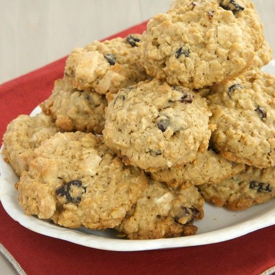 """""""These big, chewy cookies are a bit of a twist on traditional oatmeal cookies. The cherries add a bit of tartness to complement the sweetness of the white chocolate."""" - Jennifer from Bake or Break"""