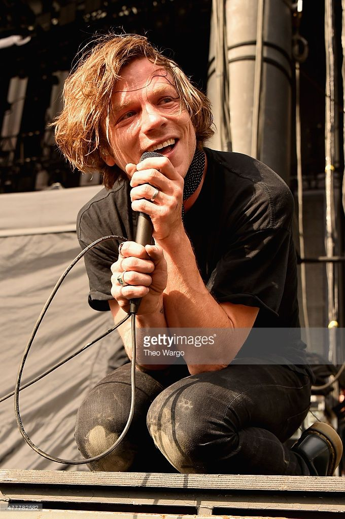 Singer Matt Shultz Of Cage The Elephant Performs Onstage