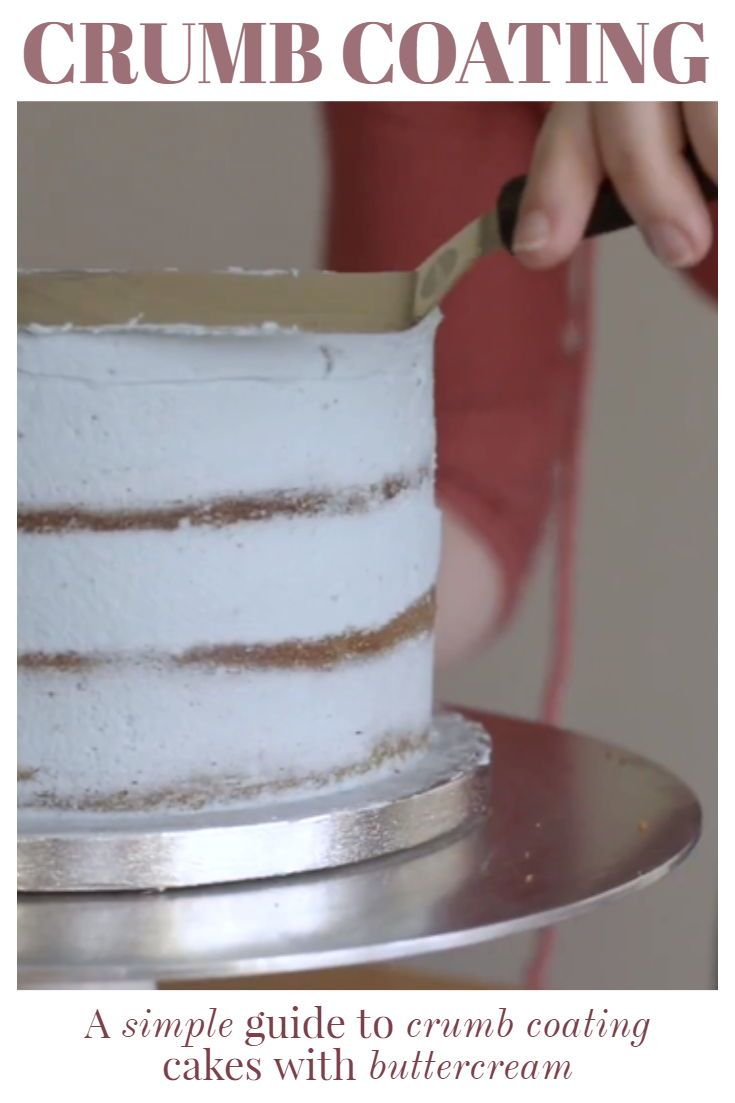 How to Crumb Coat a Cake: Buttercream Techniques