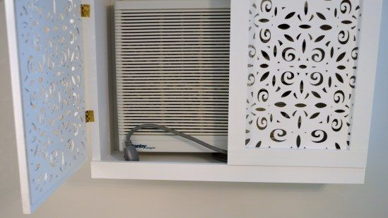 Hiding an ugly AC window unit! Love this!