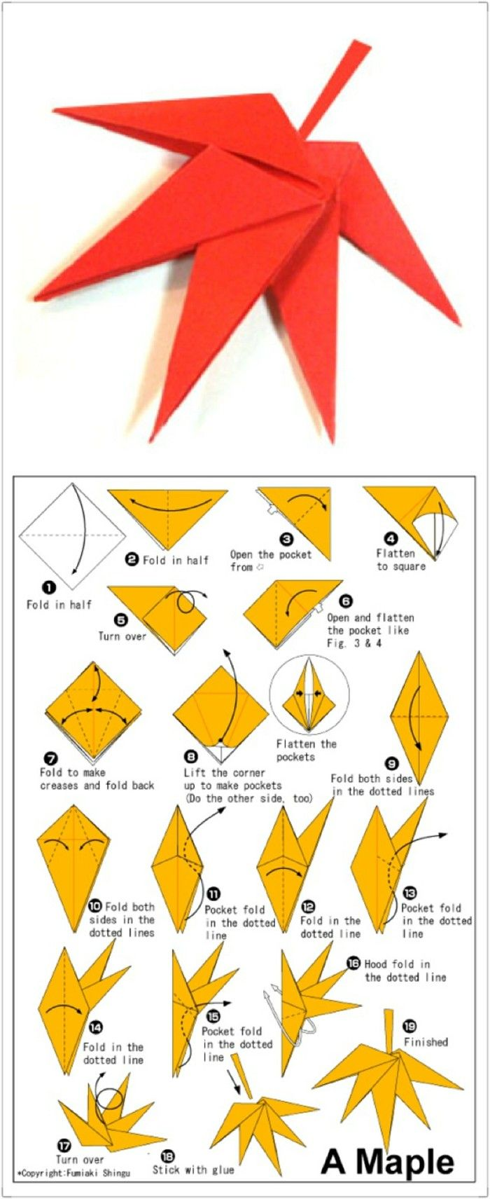 Paper Craft Maple Leaf Origami