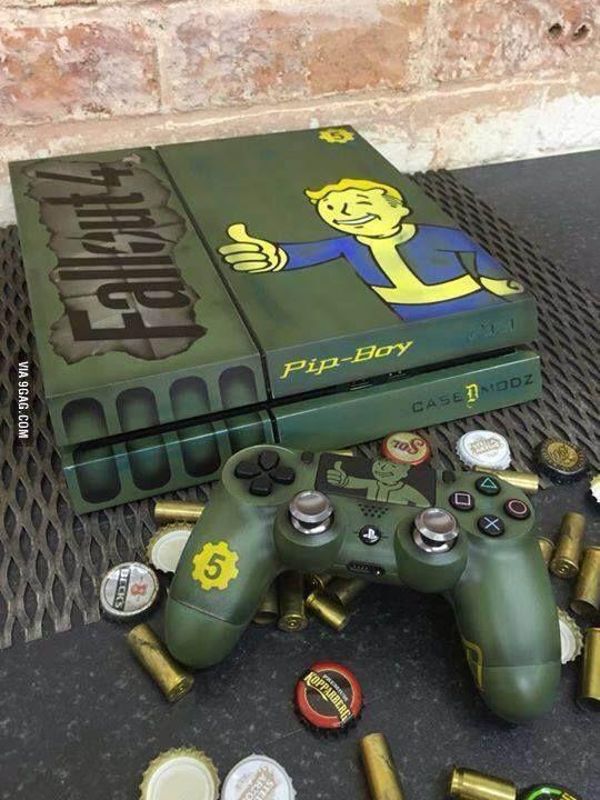 Fallout 4 PS4 case.. All aboard the hype train Via: http://9gag.com/gag/aVXBZ8w | Viralpx