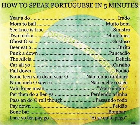 haha....  BETTER: HOW TO PRONOUNCE PORTUGUESE WORDS IN 5 MINUTES... kkk