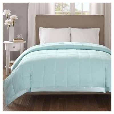 Bed Blanket Parkman Premium Oversized Down Alternative with 3M Scotchgard (Full/Queen) Aqua (Blue)