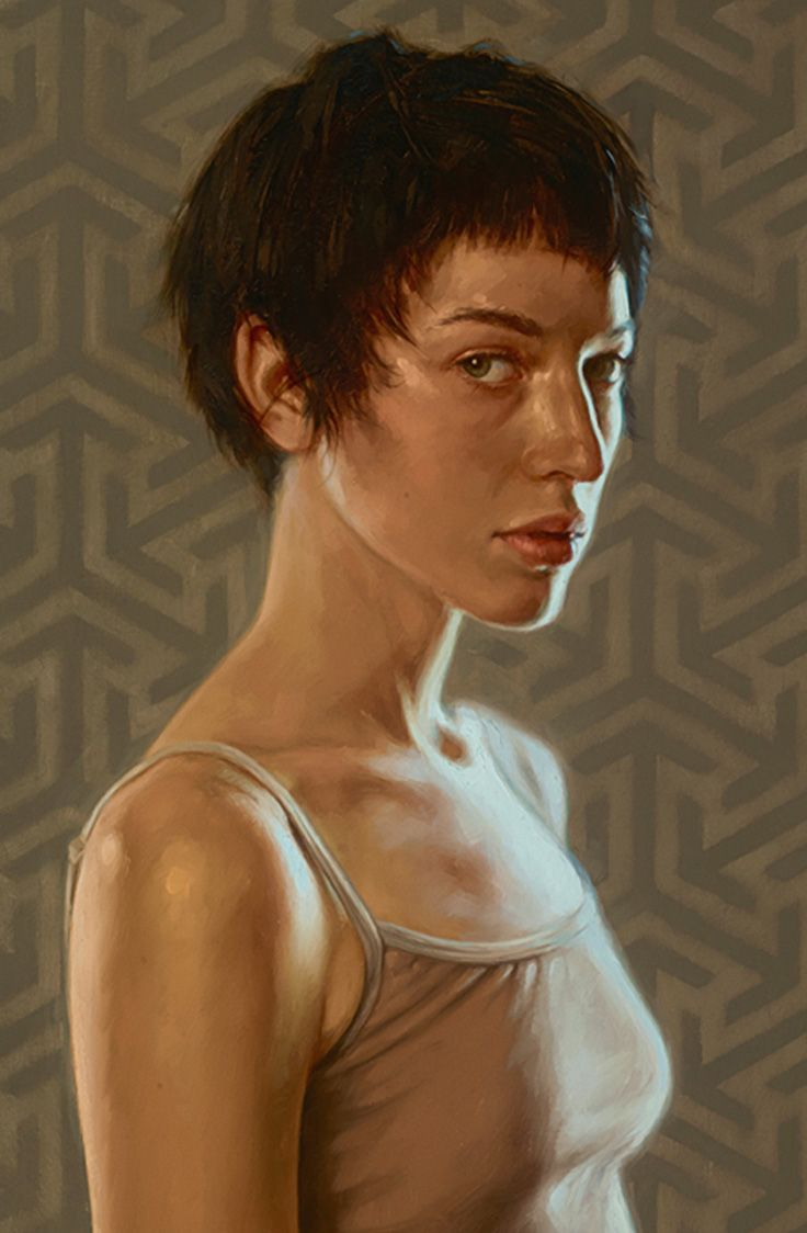 """""""Still"""" - Aaron Nagel, oil on panel {contemporary realism art female head woman face portrait cropped painting #loveart} aaronnagel[dot]com"""