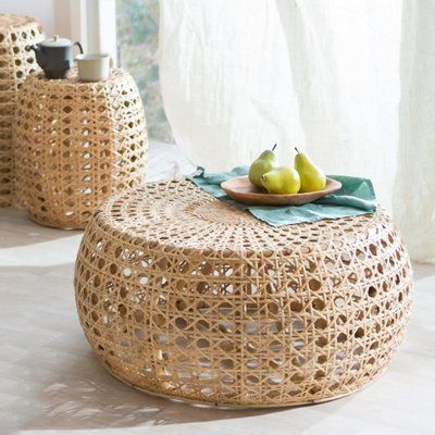 VivaTerra Rattan Diamond Coffee Table