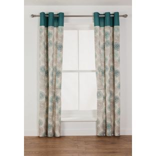 Buy Kaelan Eyelet Unlined - 168x183cm - Teal at Argos.co.uk, visit Argos.co.uk to shop online for Limited stock Home and garden, Home furnishings, Curtains