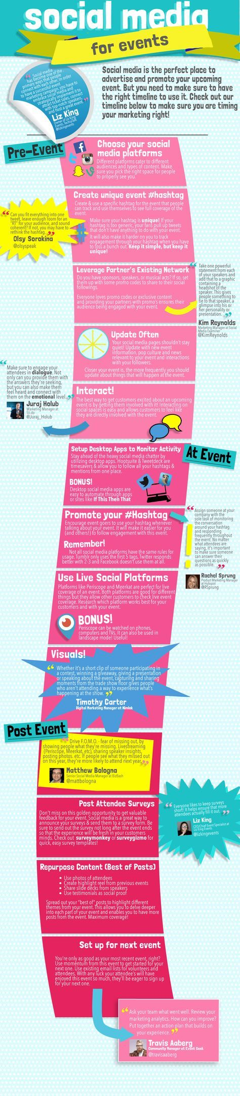 Event marketing can be rough and it all comes down to timing. Social media makes it easier though! Check out our timeline with tips from leading event marketers on the do's and don'ts of when and how to market your event on social media.  Learn more at https://ticketbud.com/p/online-ticket-sales-system-for-events