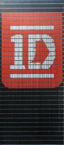 One Direction Vliegengordijn door Deco Creations ontworpen, kijk voor veel meer vliegengordijnen op www.decocreations.nl