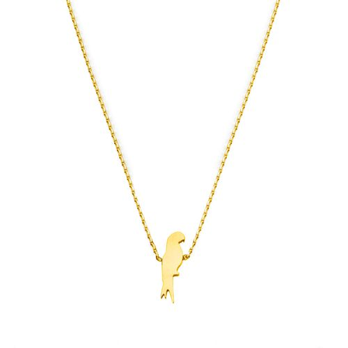 PARROT NECKLACE GOLD | Flor Amazona