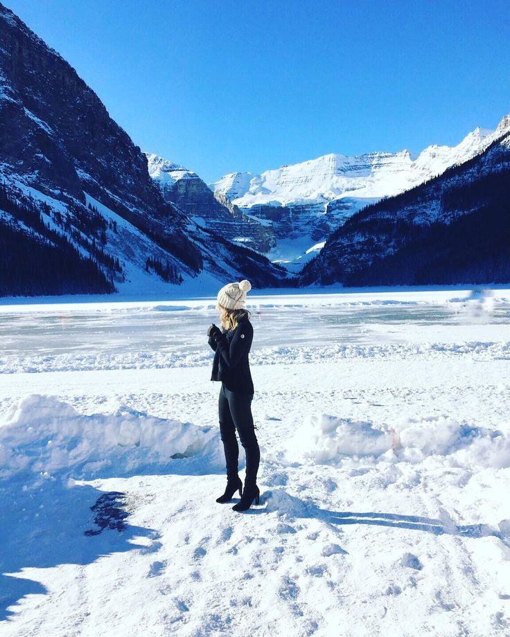 Fairmont Chateau Lake Louise #fashion #style #thebasicblond #ootd #ootn #overthekneeboots #outfit #fashionblogger #blog #styleblog #lifestyleblog #beautyblog #lbd #yeezus #kanye #kendall #kylie #gigi #travel #lakelouise #calgary #yyc #alberta #mountains #canadian #rockies #winter #snow #moncler