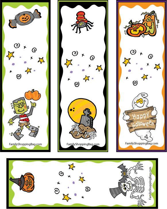 bookmarks halloween funzie halloween bookmarks free printable ideas from - Halloween Bookmarks To Color