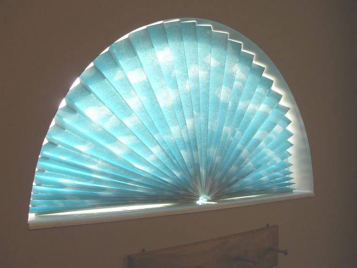 half moon window treatments | Sue Runyon Designs: How To: Make a window fan shade