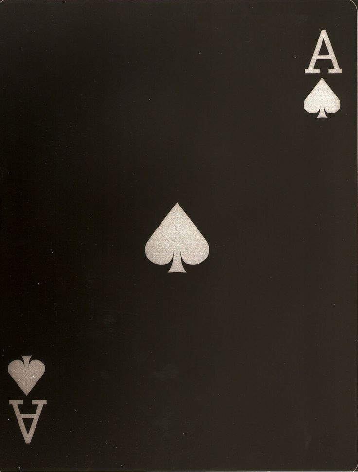 Ace of spades  classic &/or contemporary photogram/rayograph