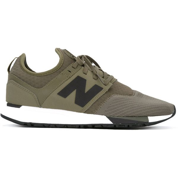 New Balance - lace-up sneakers - men - Cotton/Polyamide/rubber - 10 ($86) ❤ liked on Polyvore featuring men's fashion, men's shoes, men's sneakers, green, new balance mens shoes, new balance mens sneakers, mens green shoes and mens lace up shoes