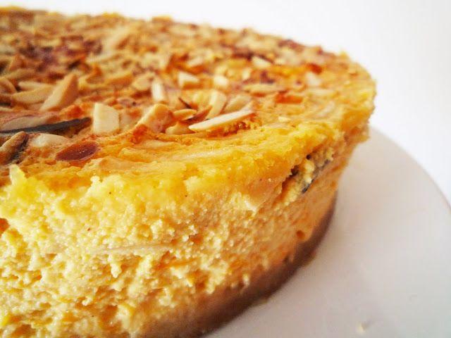 Céu da Boca: Cheesecake de abóbora e amêndoa