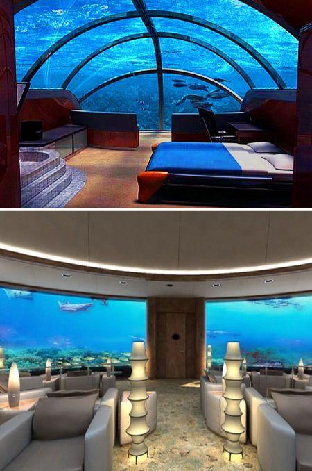 10 Coolest Underwater Places (cool underwater, utter inn, red sea star restaurant) - ODDEE